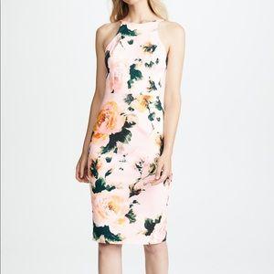Black Halo - floral high neck dress - Size 6